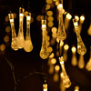 Bubbles, water droplets, warm white, 7 meters, 50 lights, solar